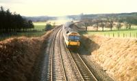 Eastbound 477 to the east of Hartwood on E&G diversion.<br><br>[Ewan Crawford&nbsp;//1988]