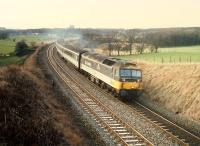 A 477 rounds the curve as it leaves Hartwood heading east on an E&G diversion.<br><br>[Ewan Crawford&nbsp;//1988]
