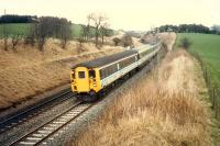 A 477 rounds the curve as it leaves Shotts heading west on an E&G diversion.<br><br>[Ewan Crawford&nbsp;//1988]