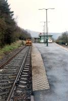 A trolley waits to be passed at Arrochar and Tarbet.<br><br>[Ewan Crawford&nbsp;//1990]