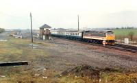 A Glasgow-Inverness train passes Cadder box.<br><br>[Ewan Crawford&nbsp;//1990]