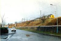 A pair of 37s draw a Hunterston-Ravenscraig iron ore train east to Paisley.<br><br>[Ewan Crawford&nbsp;//]