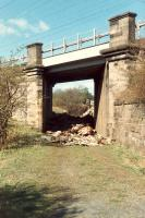 The Elderslie fly-under which allowed trains for Kilbarchan, Kilmacolm and Greenock to turn north to Cart Junction without fouling the mainline. Pretty much where the canal once passed under.<br><br>[Ewan Crawford&nbsp;//]