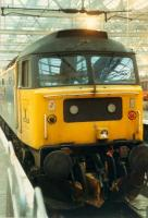 47 with Highland logo in Glasgow Central.<br><br>[Ewan Crawford 26/11/1988]