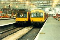 DMUs in Glasgow Central.<br><br>[Ewan Crawford 26/11/1988]