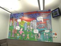 Aberdeen station - mural 1. February 2010.<br><br>[First ScotRail&nbsp;20/02/2010]