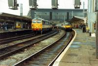 A busy south end of Carlisle.<br><br>[Ewan Crawford&nbsp;26/11/1988]