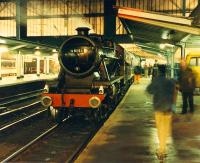 How unusual, a steam engine off the S&C at Carlisle! 48151 draws little attention as it grows dark.<br><br>[Ewan Crawford&nbsp;26/11/1988]