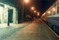 Newtonmore looking north. The station building is now in private ownership and the platform has been relocated further north.<br><br>[Ewan Crawford&nbsp;03/01/1989]
