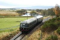 A preserved DMU reaches the end of its journey at Broomhill.<br><br>[Ewan Crawford&nbsp;//]