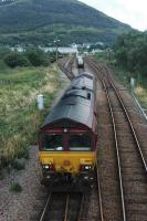 66103 goes to pick up its load of alumnium slabs and empty bauxite wagons to take to Mossend.<br><br>[Ewan Crawford&nbsp;//]