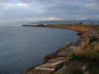 The curve of the pier at Craigendoran which once accommodated a track.<br><br>[Ewan Crawford&nbsp;//]