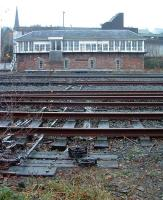 Stirling North signalbox. Shore Road level crossing was to the left, later replaced with an overbridge.<br><br>[Ewan Crawford&nbsp;//]