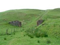 The remains of the (second) immense double track Drumgrange incline. This Dalmellington Iron Company line took the railway from Waterside up to the high level iron ore lines.<br><br>[Ewan Crawford&nbsp;//]