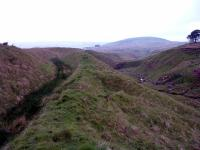 The Corbie Craigs incline. This was replaced by the second Drumgrange incline. It led down to the ironworks via a large viaduct. Amazingly some track remains in place since closure in the 1860s.<br><br>[Ewan Crawford&nbsp;//]