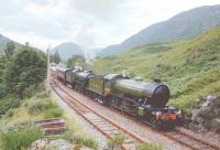 K4The Great Marquess and K1 No 2005 leave Glenfinnan for Fort William in July 1994.<br><br>[John Gray&nbsp;//1994]