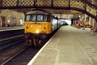 Inverness bound train in Perth station. This was one of the platforms created in the huge rebuild of Perth General.<br><br>[Ewan Crawford&nbsp;//1988]
