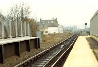 The closed Princes Street station at Perth. This was a two platform station and one building still stands on the disused platform.<br><br>[Ewan Crawford&nbsp;//1988]