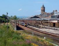 Looking north at the original Perth station, beyond the building to the right is the new portion from its massive enlargement.<br><br>[Ewan Crawford&nbsp;13/07/2003]