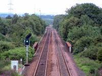 Gartcosh before the station was built. Looking to the junction.<br><br>[Ewan Crawford&nbsp;//2003]