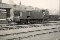 Thompson Q1 class 0.8.0T 69927 at Eastfield Sheds in 1951. Built by the GCR as a 0.8.0 tender engine in 1907 this locomotive was rebuilt as a tank engine by the LNER in 1942. 69927 was withdrawn from Eastfield in the Spring of 1956.<br><br>[G H Robin collection by courtesy of the Mitchell Library, Glasgow&nbsp;12/10/1951]