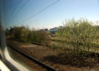 Finnieston East Junction looking east. Viewed from westbound train on the Queen Street line. This incline gave access to the Queens Dock from Kelvinhaugh Goods and did not carry a passenger service until the Argyle Line opened.<br><br>[Ewan Crawford&nbsp;05/05/2006]