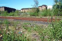 Looking west over the CGU just east of Gallowgate. The College Goods Yard was straight ahead and the warehousing still standing on the left was part of it.<br><br>[Ewan Crawford&nbsp;05/05/2006]