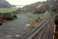 Looking away from Kyle towards Inverness. The locomotive shed was on the left.<br><br>[Ewan Crawford&nbsp;03/01/1989]