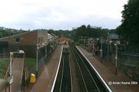 Looking west at Maryhill. The pointwork for Maryhill Park Junction was being installed as part of the Maryhill-Anniesland re-opening.<br><br>[Aidan Keane&nbsp;/09/2004]
