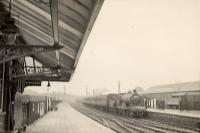 CR 4-4-0 54449 arriving from Edinburgh. (Raining)<br><br>[G H Robin collection by courtesy of the Mitchell Library, Glasgow&nbsp;22/07/1950]