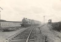 Poniel Junction. CR 4.4.0 54504 eastbound.<br><br>[G H Robin collection by courtesy of the Mitchell Library, Glasgow&nbsp;25/07/1953]