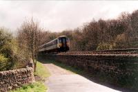 Newcastle bound Sprinter runs east towards Border Counties Junction.<br><br>[Ewan Crawford&nbsp;/11/1997]