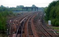 Cadder Marshalling Yard looking west. This yard is being worked on.<br><br>[Ewan Crawford&nbsp;12/05/2006]