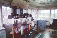 Interior of the signal box at Kingussie.<br><br>[John Gray&nbsp;//]