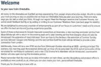 Excerpt from the First ScotRail timetable supplementary leaflet issued in May 2009, giving information on planned timetable changes/enhancements.<br><br>[David Panton&nbsp;01/05/2009]