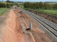 View east towards Gretna from the outskirts of Annan in May 2007 showing widening work underway.<br><br>[John Furnevel&nbsp;/05/2007]