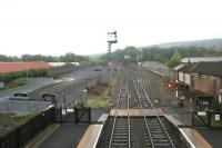Looking east from the station footbridge at Hexham on a damp and overcast day in May 2006.<br><br>[John Furnevel&nbsp;07/05/2006]