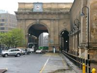 The imposing station portico at Newcastle Central. 2006.<br><br>[John Furnevel&nbsp;07/05/2006]