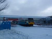 Eastbound Pacer at the Metrocentre station.<br><br>[Ewan Crawford&nbsp;28/02/2004]