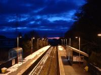 Looking west at Brampton. Great lighting, but sadly no train showed.<br><br>[Ewan Crawford&nbsp;27/02/2004]
