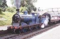 Caledonian Railway 0-6-0 No 828 about to leave Boat of Garten for Aviemore.<br><br>[John Gray&nbsp;//]