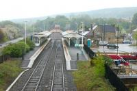 View east over Hexham station from the A6079 road bridge in May 2006.<br><br>[John Furnevel&nbsp;07/05/2006]