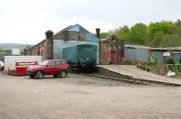 View east towards Stainmore at Kirkby Stephen East station in May 2006.<br><br>[John Furnevel&nbsp;11/05/2006]