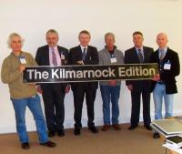 <I>The Kilmarnock Edition</I> nameplate presentation on 4 December 2009 - see news story.<br><br>[First ScotRail&nbsp;/12/2009]