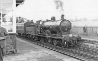 Last train to Uplawmoor with Caley Bogie 54465. It will continue to Beith Town.<br><br>[John Robin&nbsp;27/05/1962]