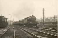 Edinburgh via Dunfermline train leaving Stirling. V3 2.6.2T 67669. Stirling visit 26.8.50.<br><br>[G H Robin collection by courtesy of the Mitchell Library, Glasgow&nbsp;26/08/1950]