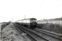 Helensburgh - Airdrie train approaching Cardross.<br><br>[G H Robin collection by courtesy of the Mitchell Library, Glasgow&nbsp;26/11/1960]