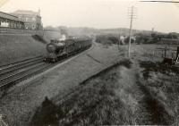 CR 4.4.0 54453 passing site of Potterhill Junction on Greenock train. [RailScot note: sources vary on whether this is Potterhill or Meikleriggs Junction.]<br><br>[G H Robin collection by courtesy of the Mitchell Library, Glasgow&nbsp;05/05/1953]