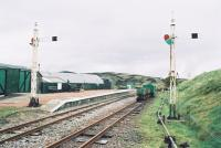 The new Leadhills station looking east towards Elvanfoot<br><br>[Clive Barlow&nbsp;26/05/2006]