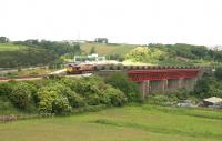 Longannet - Hunterston empties crossing Jamestown Viaduct in June 2006.<br><br>[John Furnevel 20/06/2006]